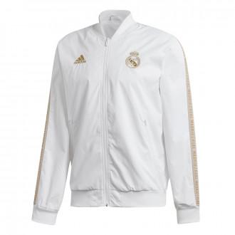 Jacket  adidas Real Madrid Anthem 2019-2020 White-Dark football gold