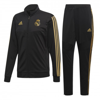 932d4777 Tracksuit adidas Real Madrid PES 2019-2020 Black-Dark football gold