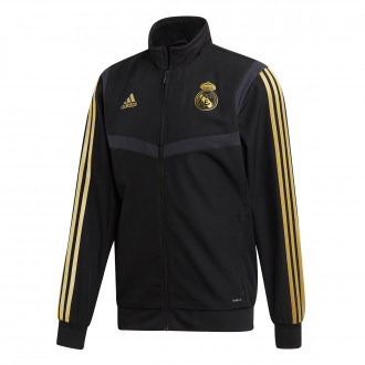 Giacca  adidas Real Madrid Pre Match 2019-2020 Black-Dark football gold