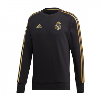 Sweatshirt  adidas Real Madrid Sweat 2019-2020 Black-Dark football gold