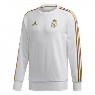 Sweatshirt  adidas Real Madrid Sweat 2019-2020 White-Dark football gold
