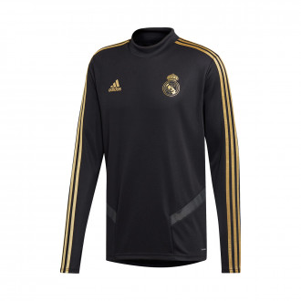 Sweat  adidas Real Madrid Training 2019-2020 Black-Dark football gold