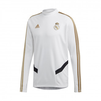 Sweatshirt  adidas Real Madrid Training 2019-2020 White-Dark football gold