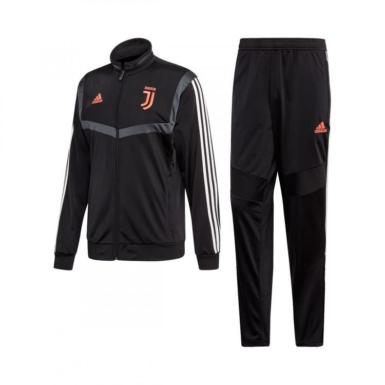 Survêtement Adidas Juventus PES 2019-2020 Black-Dark Grey