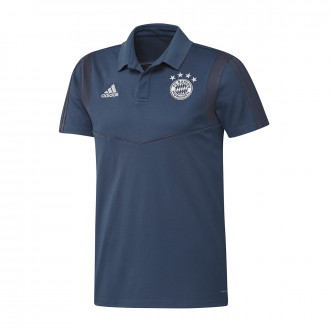 Polo shirt  adidas Bayern Munich 2019-2020 Night marine-Trace blue