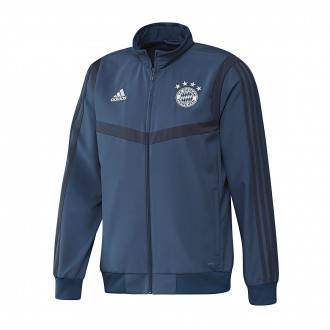 Chaqueta  adidas Bayern Munich Pre Match 2019-2020 Night marine-Trace blue
