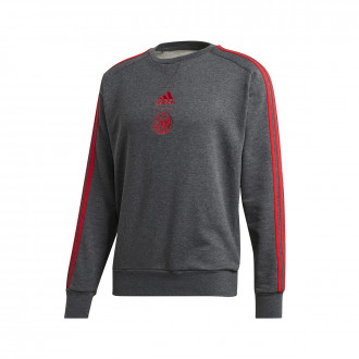 Sweat adidas Ajax FC 3S CR Sweat 2019-2020 Dark grey heather-Bold red