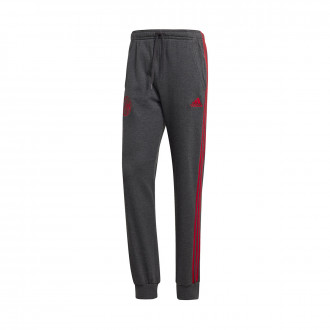 Pantalón largo  adidas Ajax FC 3S Sweat 2019-2020 Dark grey heather-Bold red
