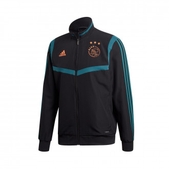 Chamarra  adidas Ajax FC Pre Match 2019-2020 Black-Tech green