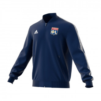 Chamarra adidas Olympique Lyon Anthem 2019-2020 Dark blue-White