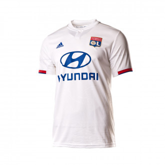 Playera adidas Olympique Lyon Primera Equipación 2019-2020 White-Collegiate red-Collegiate royal