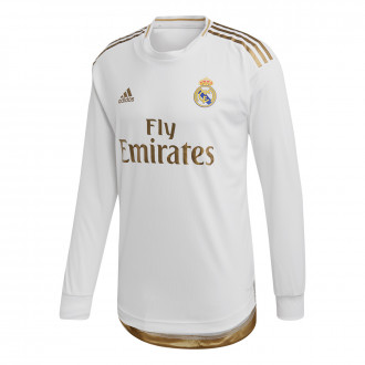 Maillot  adidas Real Madrid Domicile Authentic 2019-2020 LS White