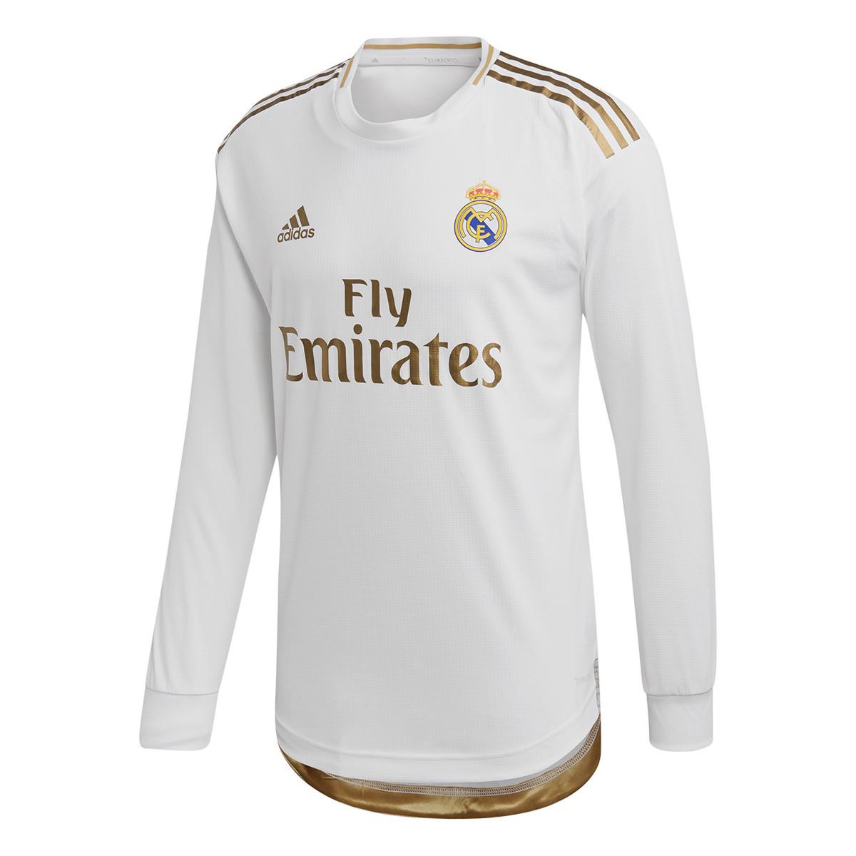 Camisola adidas Real Madrid Equipamento Principal Authentic 2019 2020 LS