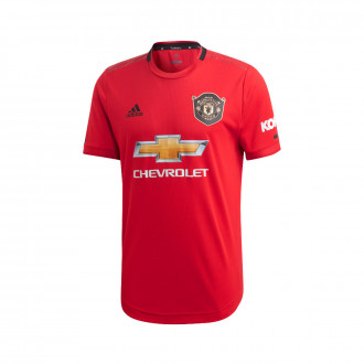 Maillot  adidas Manchester United FC Authentic Domicile 2019-2020 Real red