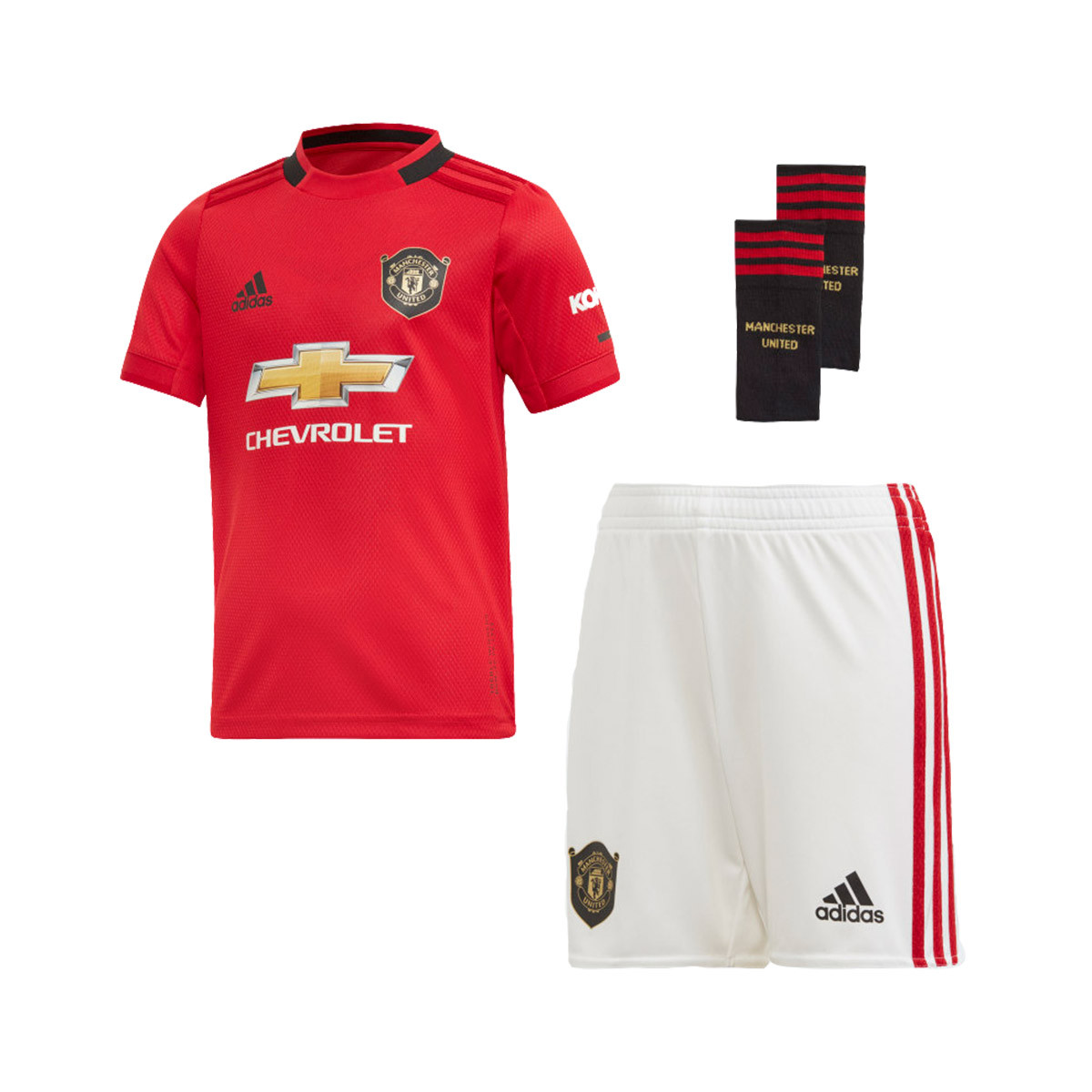 official photos a8ed1 27e32 Conjunto Mini Manchester United FC Primera Equipación 2019-2020 Real  red-White