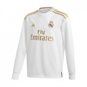 Sudadera  adidas Real Madrid Primera Equipación 2019-2020 Niño White