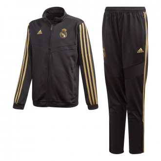 Conjunto pants  adidas Real Madrid PES 2019-2020 Niño Black-Dark football gold