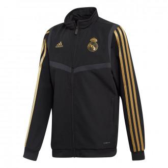 Jacket  adidas Real Madrid Pre Match 2019-2020 Niño Black-Dark football gold