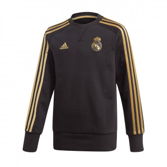Sweatshirt  adidas Real Madrid Sweat 2019-2020 Niño Black-Dark football gold