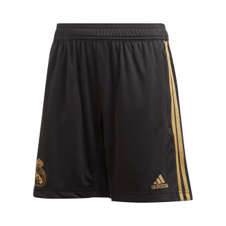 Short  adidas Real Madrid Training 2019-2020 enfant Black-Dark football gold