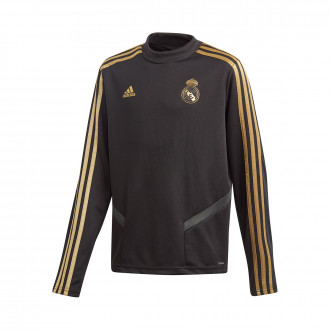 Sweatshirt  adidas Kids Real Madrid Training 2019-2020  Black-Dark football gold
