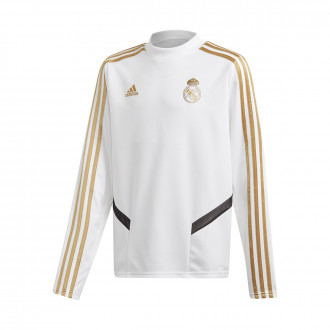 Sweatshirt  adidas Kids Real Madrid Training 2019-2020 White-Dark football gold