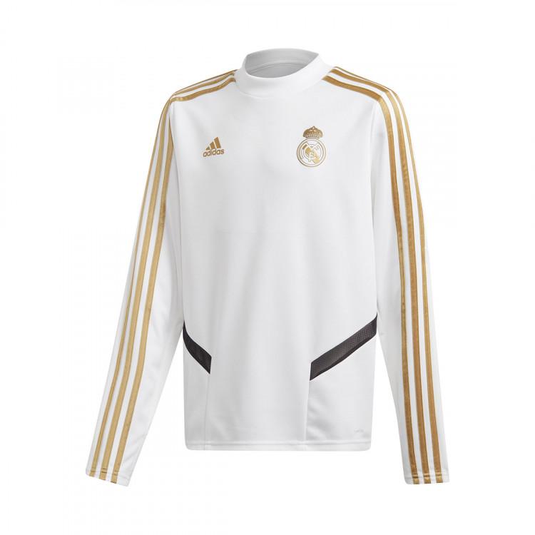 0238fcf5151 Sweatshirt adidas Kids Real Madrid Training 2019-2020 White-Dark ...