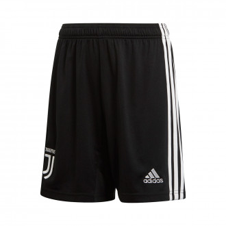 Pantalón corto  adidas Juventus Primera Equipación 2019-2020 Niño Black-White