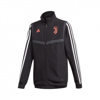 Jacket  adidas Kids Juventus Pre Match 2019-2020  Black-White