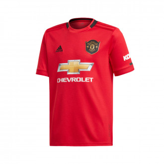 Maillot  adidas Manchester United FC Domicile 2019-2020 enfant Real red