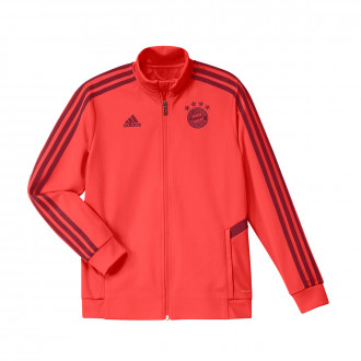 Jacket  adidas Kids Bayern Munich training 2019-2020 Bright red-Active maroon