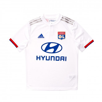 Playera adidas Olympique Lyon Primera Equipación 2019-2020 Niño White-Collegiate red-Collegiate royal