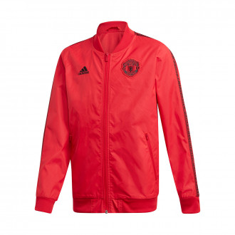 Jacket  adidas Manchester United FC Anthem 2019-2020 Niño Real red/black