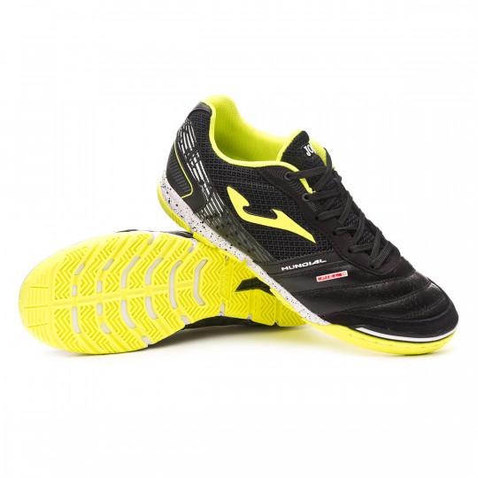 Joma Mundial Chaussure de Futsal Black-Lime