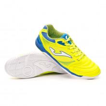 Futsal Boot Dribling Lime-Blue