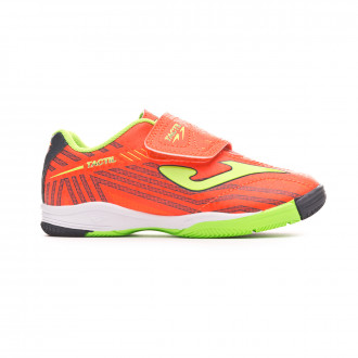 Futsal Boot  Joma Tactil Niño (Velcro) Orange-Yellow