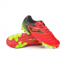 Football Boots Toledo Niño Coral-Black-Yellow