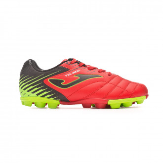 Football Boots Joma Toledo Niño Coral-Black-Yellow