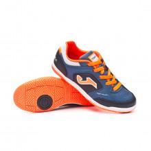 Futsal Boot Top Flex Niño Navy-Orange