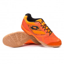 Futsal Boot Tacto 300 V Red orange-Black-Orange fluor