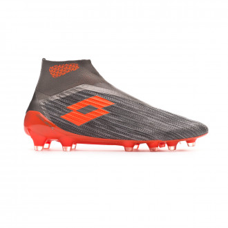 Football Boots Lotto Solista 100 III Gravity FG Cool gray-Orange fluor-Gravity titan