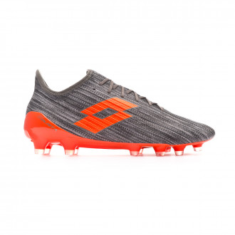 Zapatos de fútbol Lotto Solista 200 III FG Cool gray-Orange fluor-Gravity titan