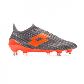 Chaussure de foot Lotto Solista 200 III SGX Cool gray-Orange fluor-Gravity titan