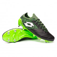 Football Boots Stadio 100 II SGX Black-White-Spring green
