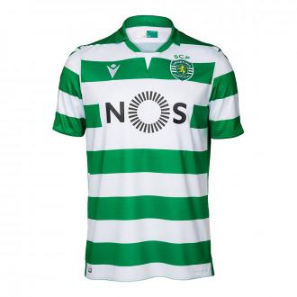 Playera  Macron Sporting Lisboa Primera Equipación 2019-2020 Niño White-Green