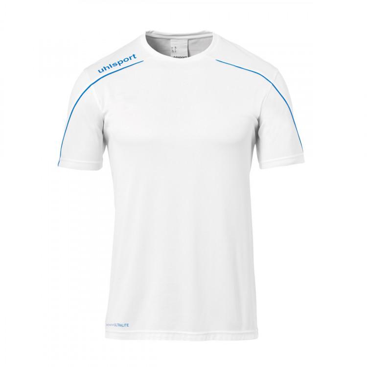 dfabd24bcd85f Camiseta Uhlsport Stream 22 m c Blanco-Azul - Tienda de fútbol ...