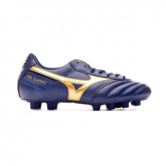 Chaussure de foot Mizuno Morelia Classic MD Blue depths-Gold