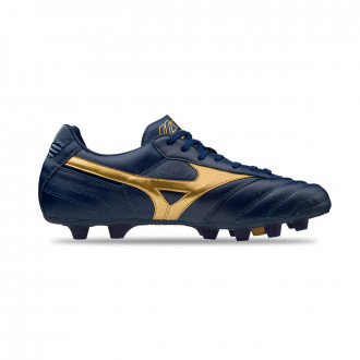 Chaussure de foot Mizuno Morelia II MD Blue depths-Gold