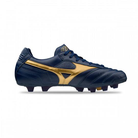 wholesale dealer e623a bd39e Football Boots Mizuno Morelia II MD Blue depths-Gold