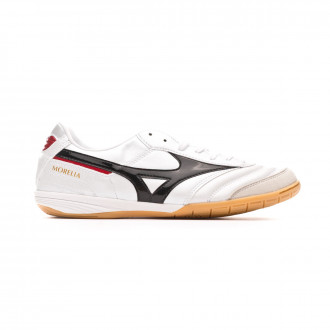Sapatilha de Futsal Mizuno Morelia Indoor White-Black-Chinese red